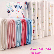 170x50cm Cotton Knitted Fabric 100% Organic Cotton fabric Knitted Animal Series Printed Fabric Sewing Material DIY Baby Clothing(China)