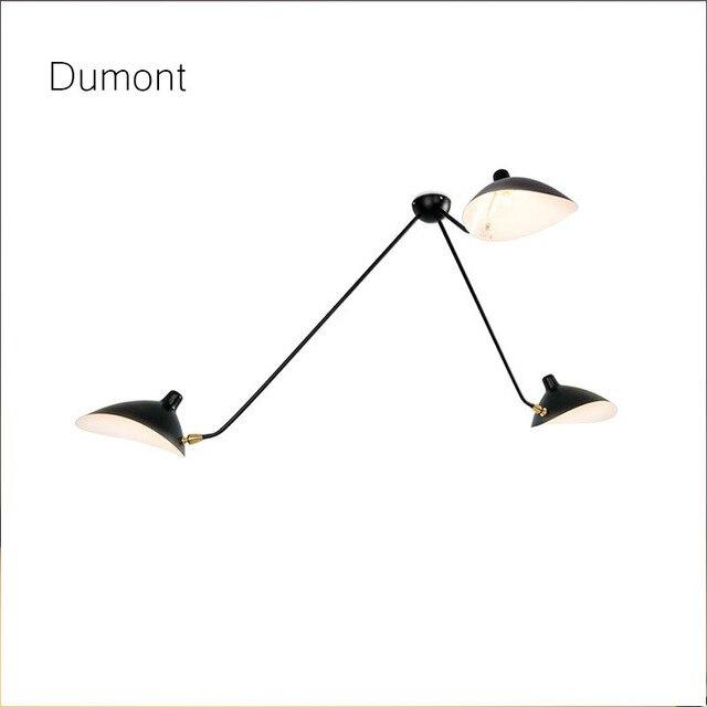 Favori Serge Mouille Plafonniers 3/5 Bras Réplique Plafond Rotatif Lampe  PX34