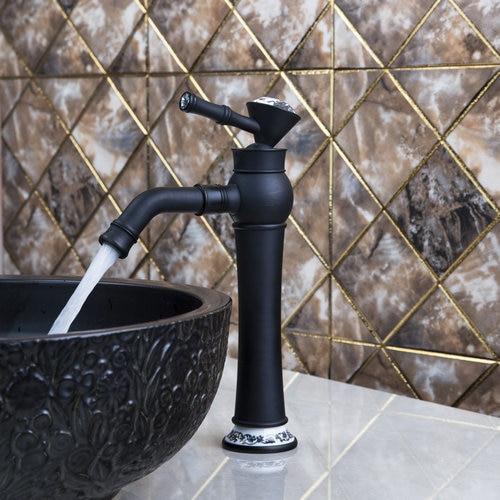 Best Tall Single Diamond Handle Swivel 360 Oil Rubbed Black Bronze 97106 Sink Kitchen Torneira Lavatory