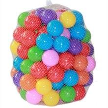 100 pçs/lote ecologicamente correta colorido plástico macio piscina de água do oceano onda bola bebê engraçado toys estresse bola de ar ao ar livre esportes diversão crianças