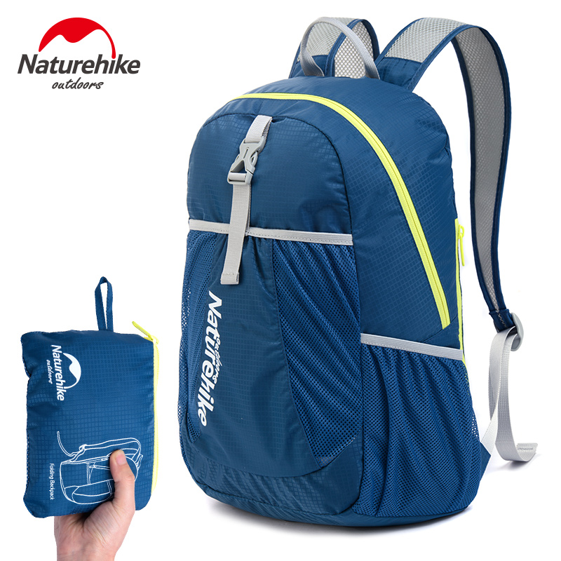 Naturehike Outdoor Women's Camping Sports Bags Nylon Men's Hiking Climbing Backpacks Folding Ultralight Knapsack 22L Packsack