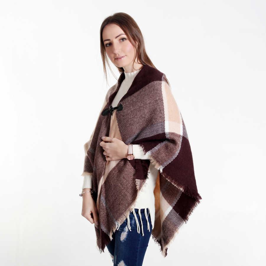 Ethnic Triangle Tassel Scarf Winter Warm Fashion Women Pashmina Shawl Scarves