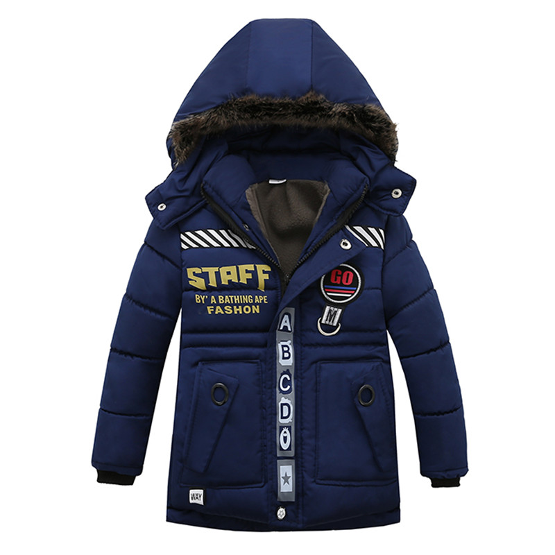 цены Kids Toddler Boys Jacket Coat Hooded Jackets For Children Outerwear Clothing Winter Warm Baby Boy Clothes