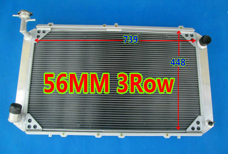 Auto Replacement Parts Friendly New Hot Selling 56mm 3 Row For Nissan Patrol Gq Safari Y60 2.8l 4.2l Rd28t Td42 I6 Diesel Racing Aluminum Radiator Quality And Quantity Assured