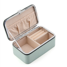 Travel jewelry packing box cosmetic makeup organizer Jewelry earrings display rings casket carrying case