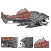 1pcs 20*8.5*6cm Dunkleosteus telleri Marine animal Plastic  model vivid birthday gift children Favorite  Early education toys