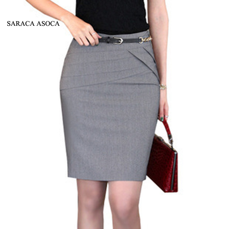 Gros Retial Printemps 3 Couleur Tailored Slim Hanche Genou-Longueur Buste  Jupes Costume Femmes Travaillent Jupe Puls Taille XXL aca33413f46b