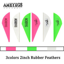 100pcs 2inch Rubber Feathers Arrow Feather Drop-shape Vanes Shooting DIY Arrow Sahft Fletches For Hunting Archery Accessories 50pcs archery 2inch rubber feather arrow feathers drop shape fletches for outdoor bow and arrows hunting shooting accessories