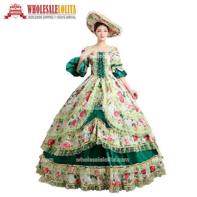 0fbb25f6fd7b5 US $120.0 |HOT!! Global FreeShipping 18th Century Belle Movie Gown  Renaissance Medieval Marie Antoinette Party Rococo Dress For Women-in  Dresses from ...