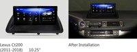 NAVIRIDER навигации премии 10,25 автомобиль DVD для Lexus CT 200 h CT200h CT200 2013 ~ 2018 Android 7,1 Штатная мультимедийный плеер