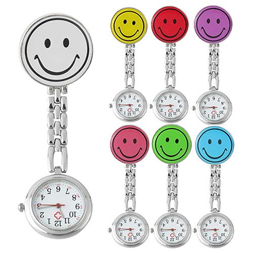 Pocket And Watch Watch Lady Butterfly Smileying Face Quartz Clip Brooch Nurse Hanging Pocket Watch Hot Sale Watch Men's Women's