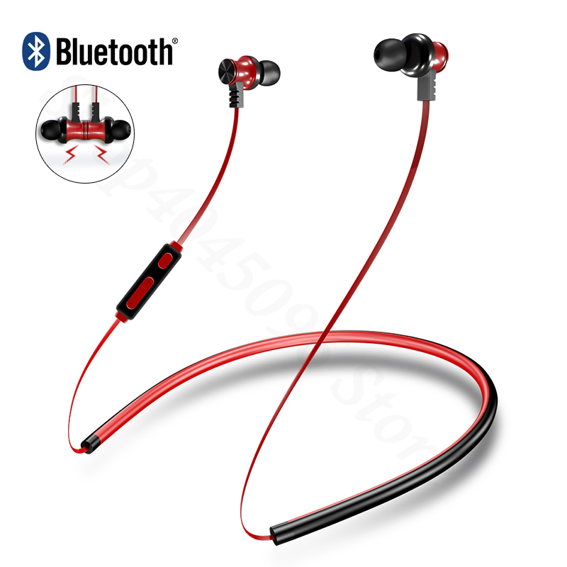 Neckband Bluetooth Headphone Universal Headset for Xiaomi earphone for Samsung Iphone Huawei Meizu Sony sport wireless headphone