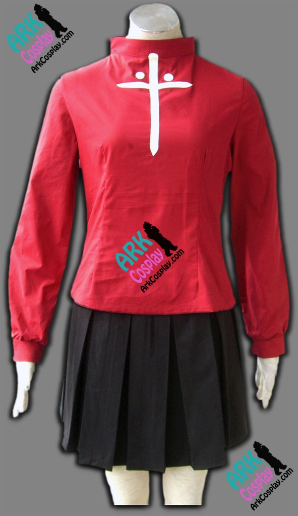 Fate Stay Night Tohsaka Rin Cosplay Red Womens Fate Stay Night Cosplay Costume