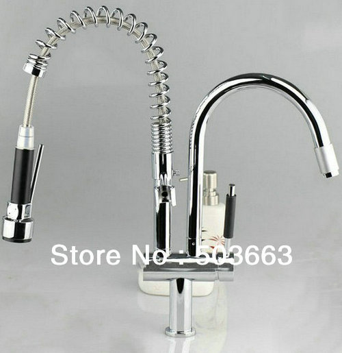 New Deck Mounted Brass Kitchen Faucet Basin Sink New Chrome  Swivel 2 Water Jets Spray Single Handle Mixer Tap S-799 single handle water purifier faucet kitchen swivel basin sink faucet vanity faucet brass mixer tap chrome crane cocina hj 0174