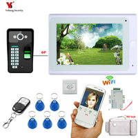 SmartYIBA 7 TFT Color Display WIFI Wireless Video Intercom Door Phone Doorbell System With 1 Camera 1Monitor for Home Security