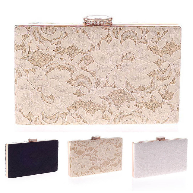 5112940eb44a 2019 New Arrival Lace Clutch Bag New Lace Satin Evening Bags High-Grade  Silk Party Bag Exquisite Day Clutches women bag