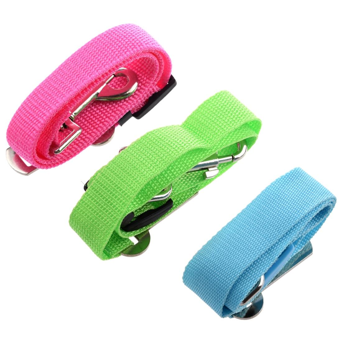 Botique 3 Pcs Blue & Green & Pink Adjustable Dog/Cat Safety Vehicle Car Seat Belt for Pet