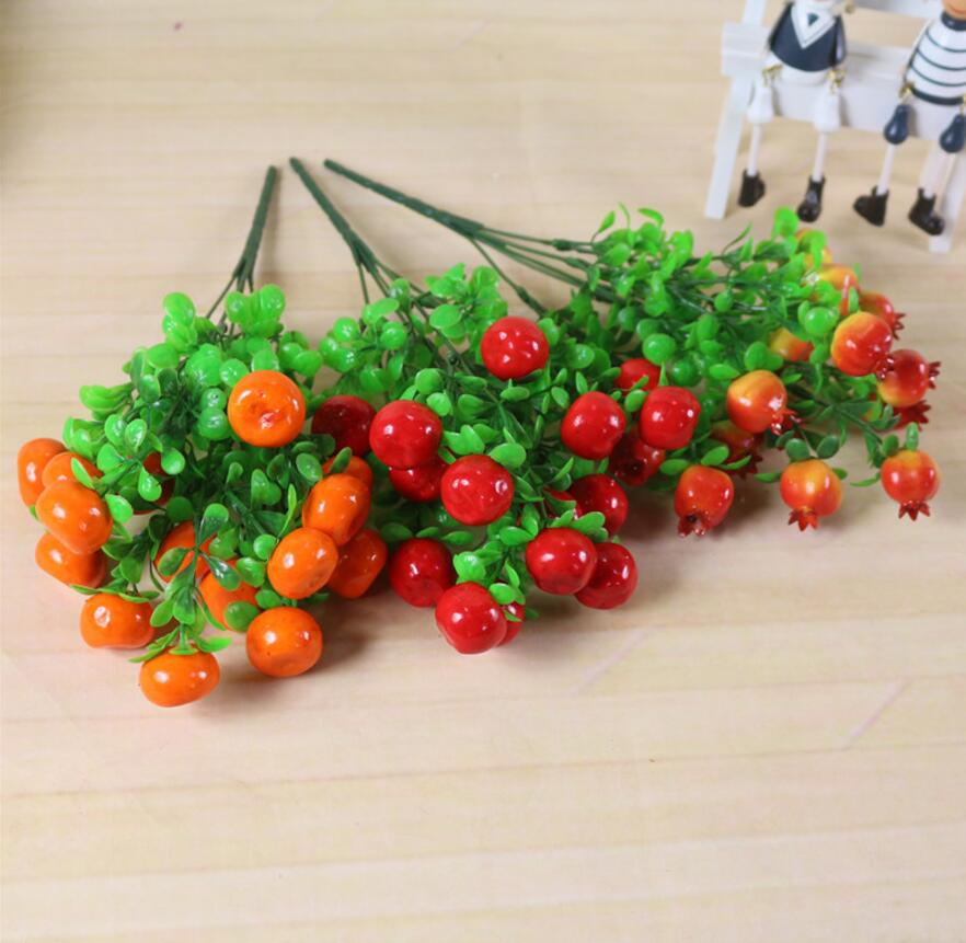 6pcs Artificial Pepper Branch For Plant Wall Background Wedding Party Home Hotal Office Bar Decorative