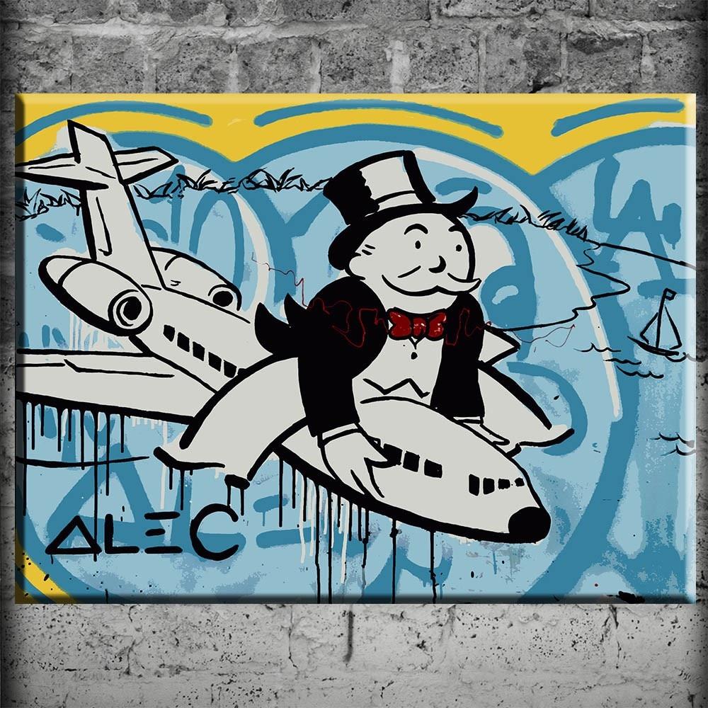alec monopolio aviones graffiti lienzo arte de la pared impresiones de la lona moderna pinturas cuadros