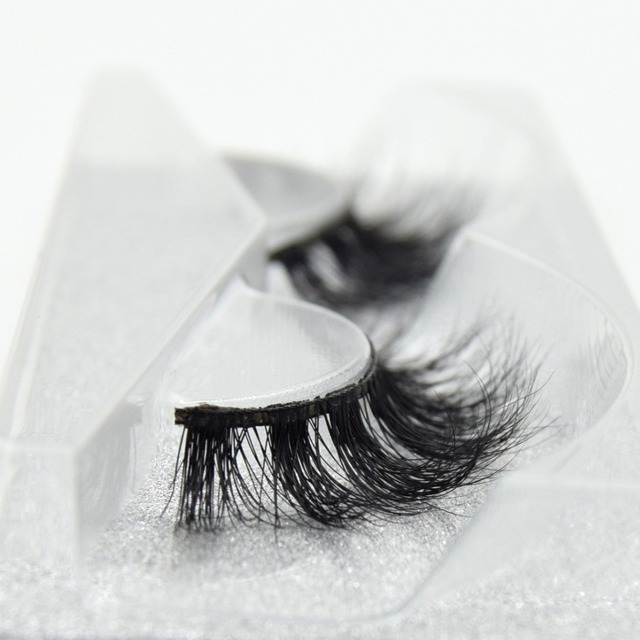 visofree 100% Handmade Eye Lashes 3D Real Mink Makeup Thick Fake False Eyelashes With Glitter Packing D108 5