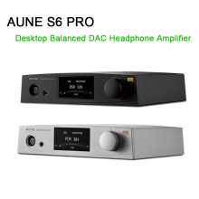 AUNE S6 PRO Desktop Balanced DAC Headphone Amplifier AK4497 DSD512 USB DAC Amp AEC Coaxial Optical 2017 new version topping d3 24bit 192khz usb optical coaxial bnc dac headphone amp amplifier black