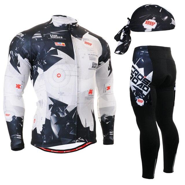 ФОТО Life on Track Pro Thin Long Sleeve Cycling jersey Sets men Sportswear Mtb Bike Bicycle 3D Gel Padded Cycling Clothing 2016