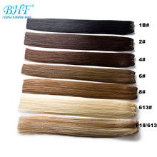 "BHF Straight Machine Made Remy Human Hair Weft 100% Natural Hair Weave Extensions 18"" to 24"" Fast Free Shipping(China)"