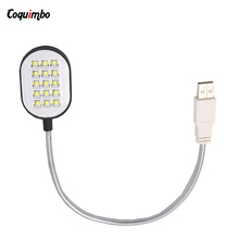 Brand New Black Flexible Arms 15 LEDs USB Light Lamp for Laptop Notebook PC Computer LED USB Light