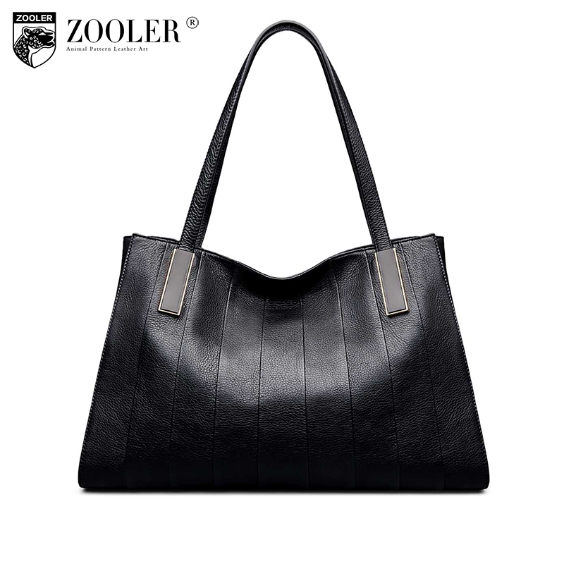 ZOOLER woman bag Famous brand 2018 new genuine leather bag shoulder bags handbag high quality large capacity classic bolsos#1063 2018 female genuine leather handbag famous brand casual woman shoulder bag large capacity totes new style lady oblique shell bag