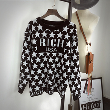 8022# 2017 Autumn Hot sales 4colors Women girls Slim Round neck Long-sleeved sweater one size have stock