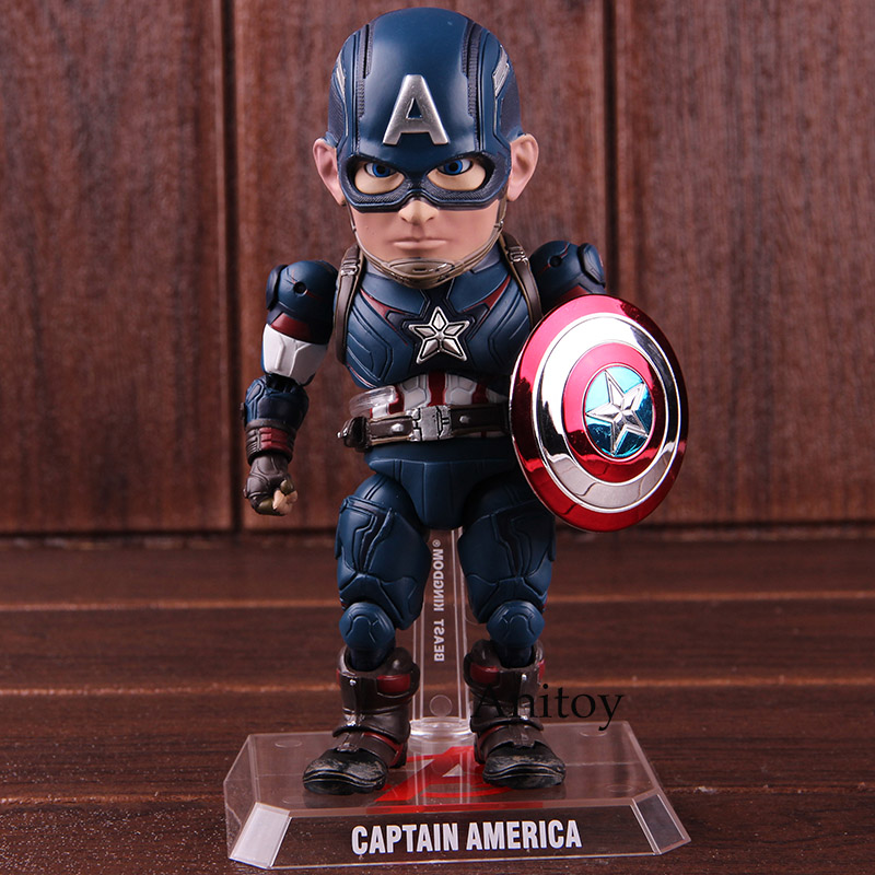 Avengers Egg Attack Action Marvel Captain America Figure EAA-011 6 Inch Action Figure Beast Kingdom PVC Model Toy 1