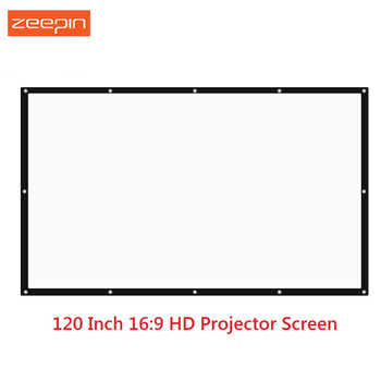 120 inch 16:9 HD Portable Folded Tabletop Front Projection Screen Fabric with Eyelets without Frame For UNic UC46 UC40 Projector kz zsn pro quad core moving double circle headphones