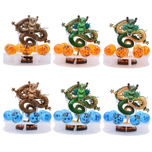 9 Set 15cm Dragon Ball Z Action Figures Shenron Dragonball Esferas Del Dragon+7pcs 3.5cm Balls+Shelf Figuras DBZ