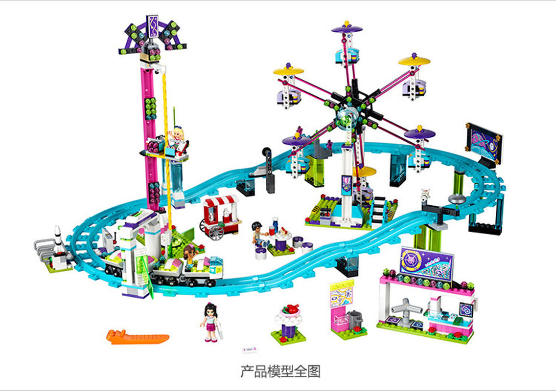 Image 3 - Bela 10563 1136pcs Friends Series Amusement Park Roller Coaster Model Building Blocks Bricks Playgame Toys For Children 41130-in Blocks from Toys & Hobbies
