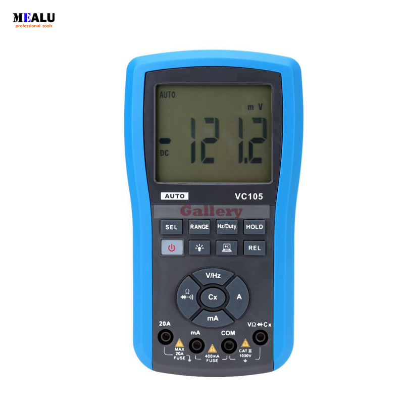 VC105 Water Resistant LCD Digital Multimeter DC AC Voltage Current Resistance Diode Testing Auto Range|Multimeters| |  - title=