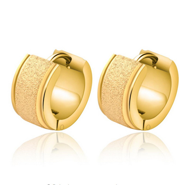 Factory Price Men Earrings Gold Color Stud Greek Key High Quality Ground Yarn