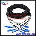 300 M de Interior Cable de Bajada FTTH Fibra Óptica Patch Cord SC SC SX SM SC-SC 300 Metros 4 Núcleos Cable de Caída de Parche cable