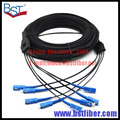 300M Indoor FTTH Fiber Optic Drop Cable Patch Cord SC to SC SX SM SC-SC 300 Meters 4 Cores Drop Cable Patch Cord