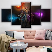 5 Pieces Canvas Painting DOTA 2 Invoker Home Decor For Living Room Printed Wall Art Game Poster Modern Artwork Pictures Cuadros майка print bar invoker