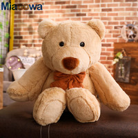 1pc 98cm Giant Brown Bear Plush toy Stuffed Plush Pillow Cute Sweater Teddy Bear Toys for Children As Birthday Gifts