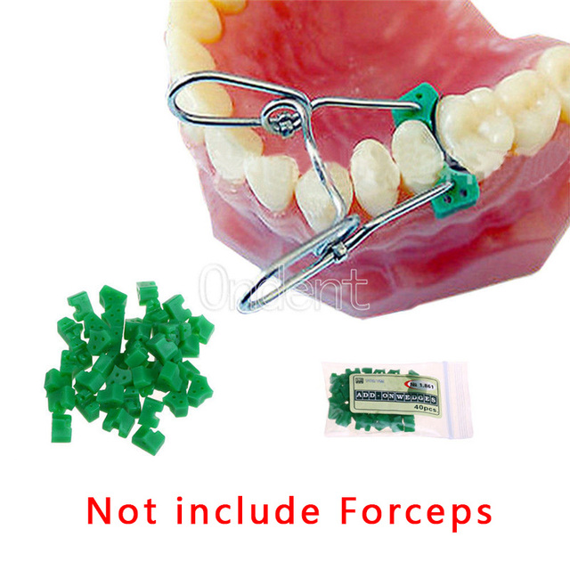 40pcs/bag Dental Silicone Add On Wedges Rubber TOR VM Delta Ring Tine Silicone Dental Wedges Rubber No 1.861 Dental material