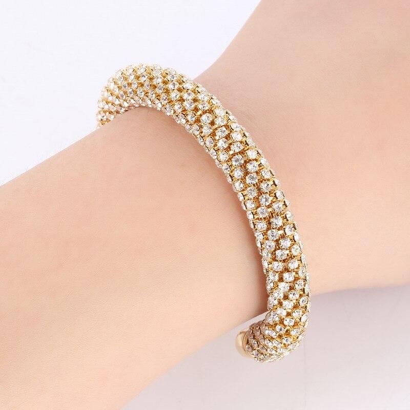 LOVBEAFAS Fashion Luxury Cuff Bracelets & Bangles For Women Crystal Rhinestone Vintage Bracelets Fine Jewelry Accessories 1