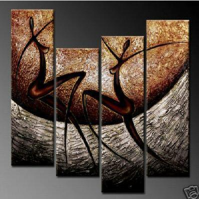 Large Size -love Song Elegant Modern Canvas Art for Wall Decor Home Decorations-abstract Oil Paintings for Wall Home Decor 4 pcs image