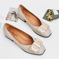 2019 Women Slipony Ballet Soft Office Low Heels Luxury Design Shoes Plus Size 34 40 Female Sweet Loafers Mocassin Shoes XZT 62