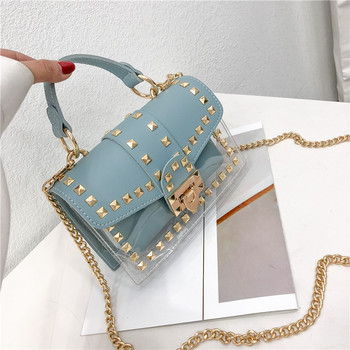 2019 Design Luxury Brand Women Transparent Bag Clear PVC Jelly Small Totes Messenger Bags Female Crossbody Shoulder Bags