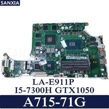 KEFU C5MMH/C7MMH LA-E911P Laptop motherboard for Acer A715-71G original mainboard I5-7300H GTX1050