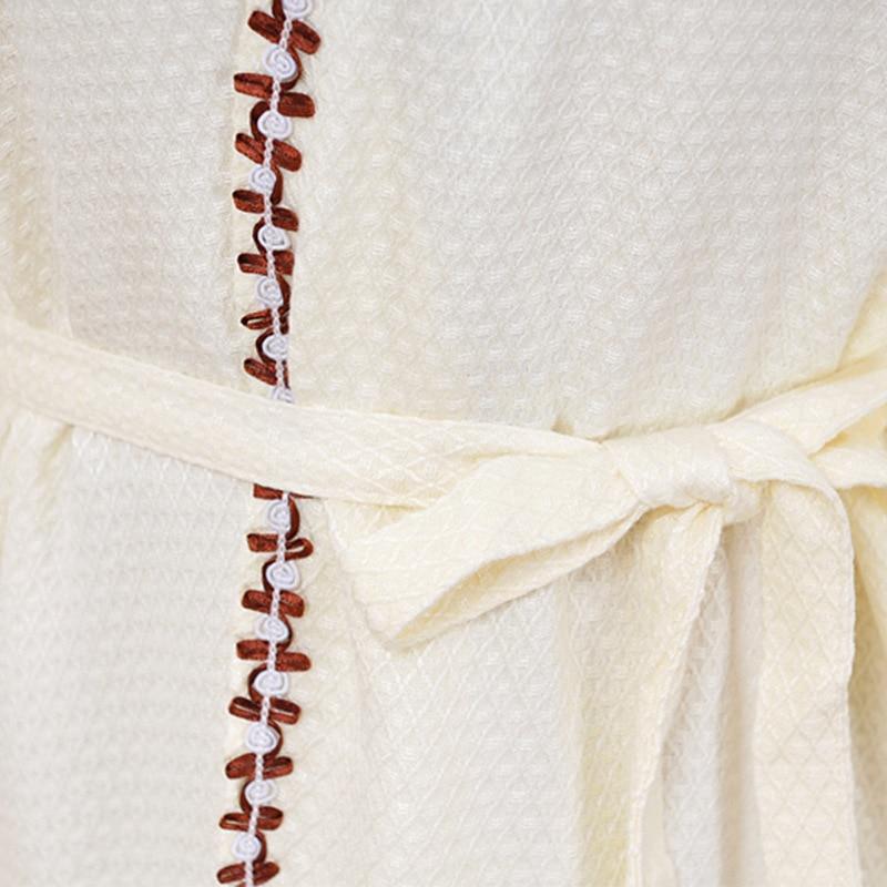 Sexy women bathrobe bamboo fiber nightgown ladies nightdress girls sleepwear cool summer lovers long soft home hotel
