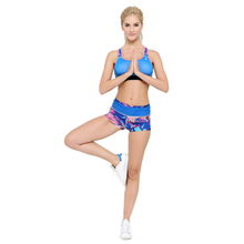 Life on Track Women Sport Yoga Sets Printed Sports Bra Fitness Shorts for Running Gym Push Up Seamless Underwear