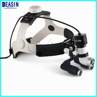 High Quality high brightness 5W LED Surgical Head Light dental Lamp All in Ones Headlight with loupes 4.0X ,5.0X , 6.0X , 6.5X