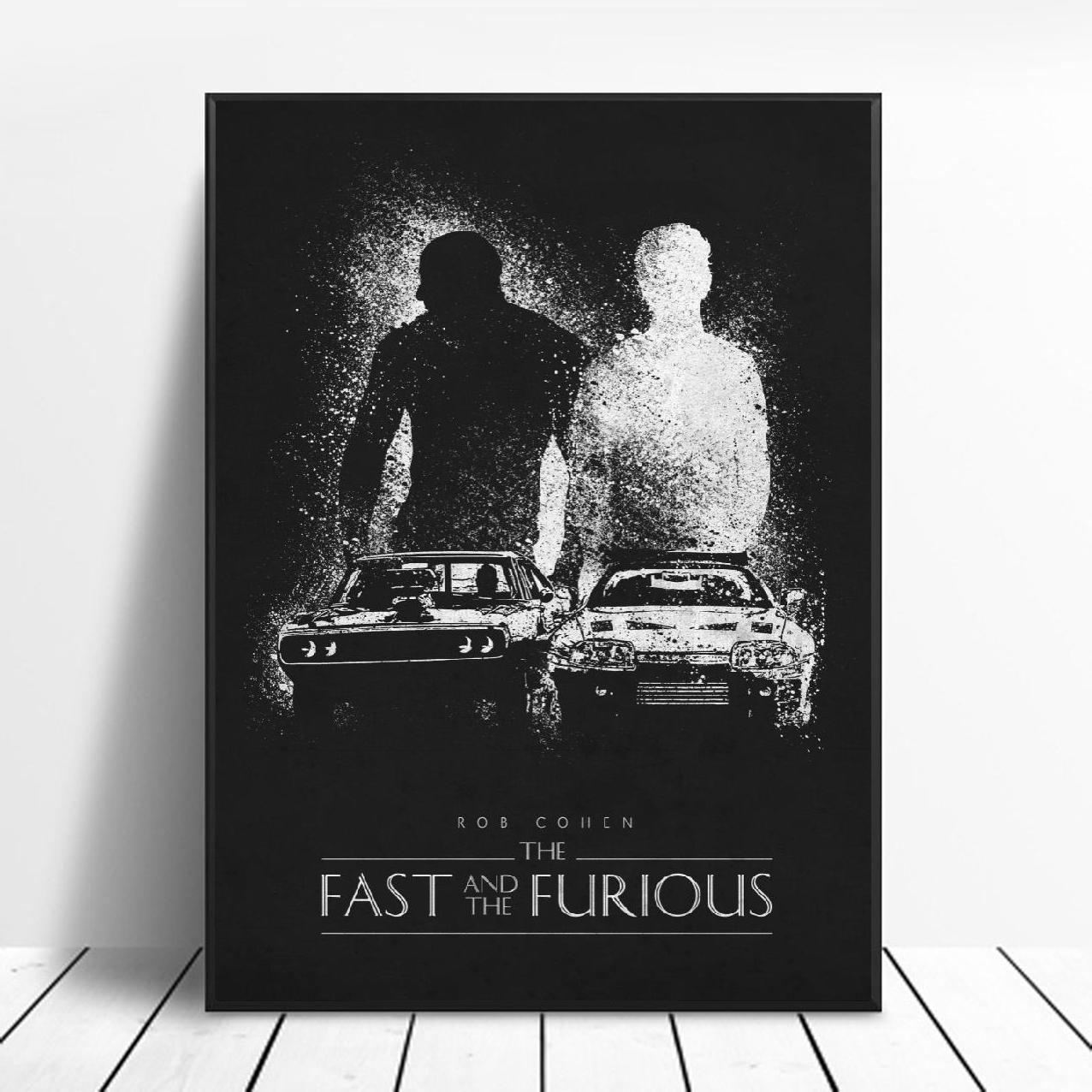 D066 The Fast and the Furious Classic Movie Series Art Silk Poster